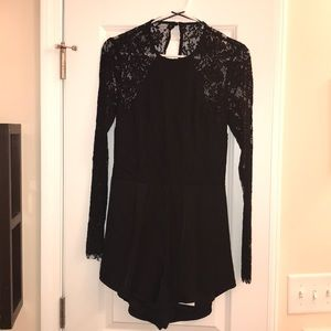 Free People Lace Romper Size M WITH TAGS